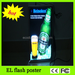 China factory thin el poster with top quality led light poster with inverter