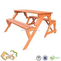 wooden garden foldable picnic bench 40001