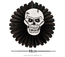 Hot sell die-cut favors, Holloween items, scary paper Fans
