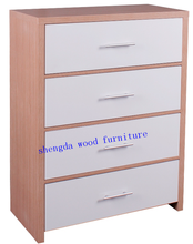 XJ-N1512hot sale 4 drawers chest white/black high gloss ,honeycomb frame