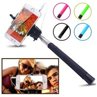 Selfie Stick, QuickSnap Self-portrait Monopod Extendable Wired Selfie Stick with built-in Remote Shutter With Adjustable Phone