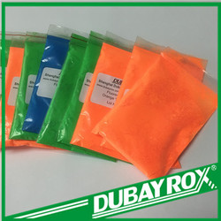 Colored Fluorescent pigments for spray paint / brush paint /screen printing ink /thermoplastic /rubber / fabric dyeing