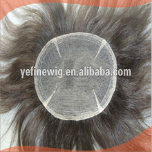 Natural Looking Gray Hair Toupee For Men
