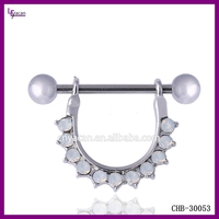 Opal Body Jewelry Surgical Steel Sexy Nipple Piercing