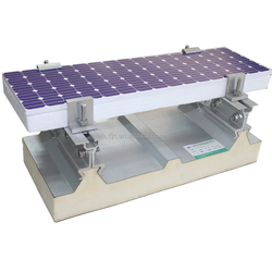 Insulated and fire proof sandwich roof panel for solar utilization