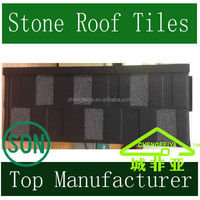 Flat Shingle Roof Tile /Stone Coated Steel Roof