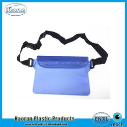 2015 Newest product universal transparent pvc waterproof bag for mobile phone with landyard