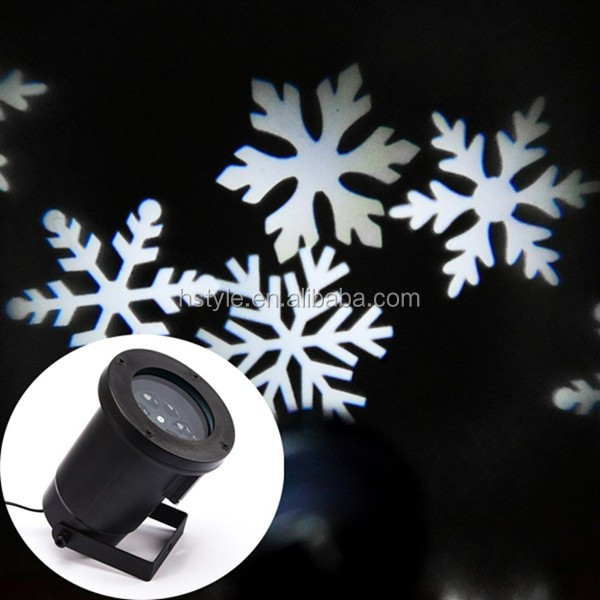 Moving Snowflake Spotlight Indoor/outdoor Led Landscape ...