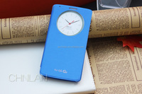 For LG G3 D855 with NFC & Wireless Charger Circle PU Leather Viewing Case with Plastic Battery Housing Door