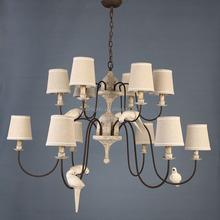 new design wooden large pendant lamps 2-tiers antique wooden hotel chandelier