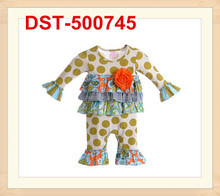 Wholesale Child Clothing Set Baby Winter Outfit With Polka Dots Baby Cotton Suit Girls Long Sleeve Top And Pant Set Kids Clothes