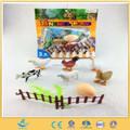 Brinquedo do bebê frango põe ovos pequeno brinquedo animal de fazenda plástico