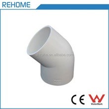 ASTM D 1785 SCH40 PVC Pipe Fittings 45 degree Elbow for Water Supply