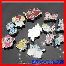 Custom shopping 8mm ename Lunar New Year wholesale slide charms