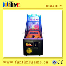 2015 factory supply indoor amusement basketball shooting machine/ indoor arcade hoops cabinet basketball game