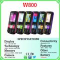nueva llegada hecho en China GRANDE DE BATERÍA W800 bar pequeño tamaño celular del teléfono móvil, movil, telefono, celular