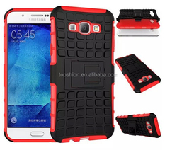 Heavy Duty Hybrid Case for Samsung Galaxy A8 Kickstand Dual-Layer Case Cover