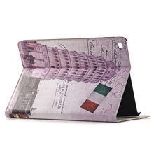 Fashion Cheapest for ipad5 stand genuine leather case