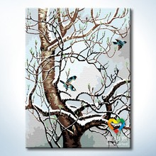tree acrylic painting by numbers diy painting supplier