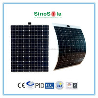 Light weight high efficiency 140w flexible solar panel for Solar Boat Caravan RV Kit with TUV/PID/CEC/CQC/IEC/CE