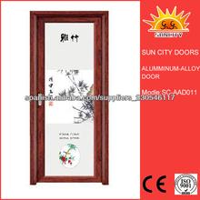 Interior de aluminio para puertas de vidrio SC-AAD011