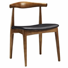 Solid wood simple European design Cow Horn dining chair