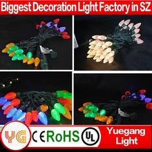 Led C6 C7 C9 UL approved string light/C7 christmas led string light Ip65 outdoor decoration