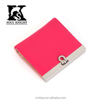 SK-6091 Korean style smart clutch blocking lady purse leather wallet