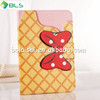 Cute case with bow wallet leather case for ipad mini,for ipad case