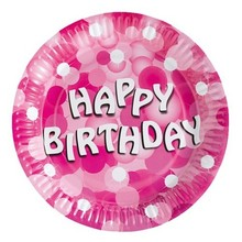 Pink sparkle birthday party decoration birthday Theme kits supplies favors Cake Dish paper plate