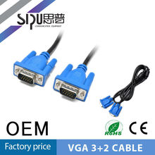 SIPU vga 25 pin cable with ferrite male to male cable for pc tv