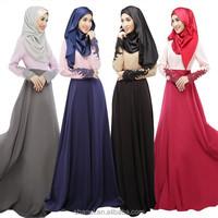 Latest Middle East Kaftan Abaya Muslim women long dress Islamic loose maxi dress Malaysia Indonesia lace sleeve long dress