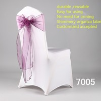 Most popular plain style purple chair sash chair ribbon for event/wedding/banquet