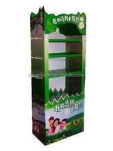 Customize cardboard paper tier counter cardboard display for promotion and marketing