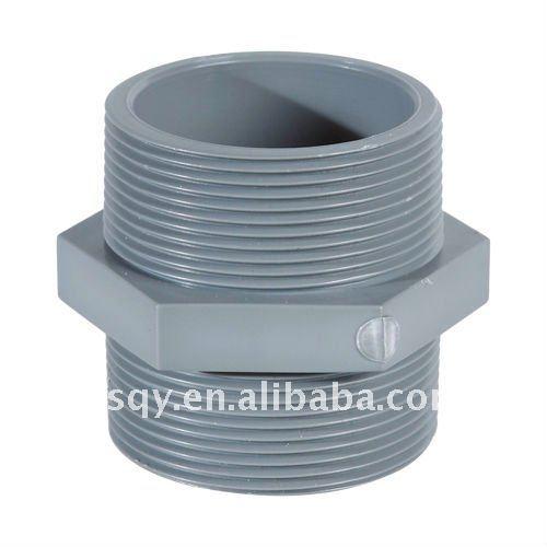 Pvc male threaded plastic pipe nipple buy metric