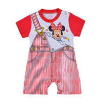2015summer wholesale New born baby clothes girl boys Strap cotton long sleeves jumpsuit baby cartoon rompers