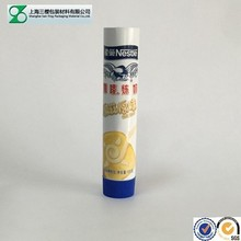 Good quality plastic tube food packaging with gravure printing for Nestle