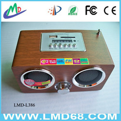 Mini wood speaker MP3 Player with FM Excellent Product LMD-L386