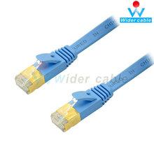 cable plano escudo con rj45 cat7 cable 15m azul