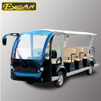 Excar 14 seats new design electric mini bus cheap electric cart for sale