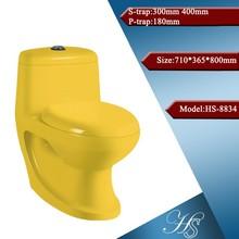 Hs-8834 Foshan hanse barato de una pieza de color inodoro
