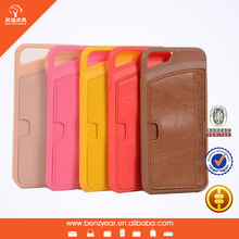 Hot selling cheap 4.7 inch TPU case with PU leather card slot custom I phone6 mobile phone leather case