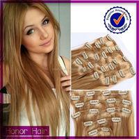 Amazing cheap 100% human clip in hair extension grade 6a 7a 8a original indian hair