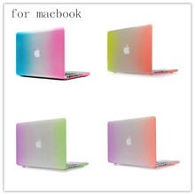colourful cover rainbow matte hard case for macbook pro 13' 15' inch