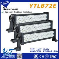 YTLB72E hot selling LED Spot Flood light bar led car wheel lights programming
