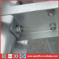 galvanized safety crash barrier on the road/highway