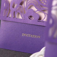 Creative holiday handmade wedding invitation card cards