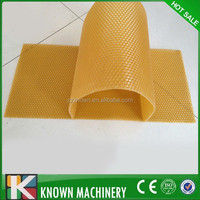 yellow beeswax foundations make for beehive comb
