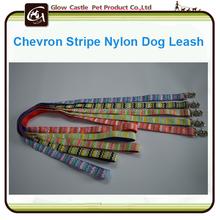 Chevron Stripe Nylon Dog Leash