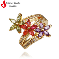 Imitation Greek style rings jewelry with18k gold plated